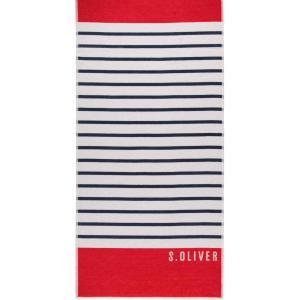 Stor velour strandhandduk 80x180 Stripe 3706 12 från s.Oliver