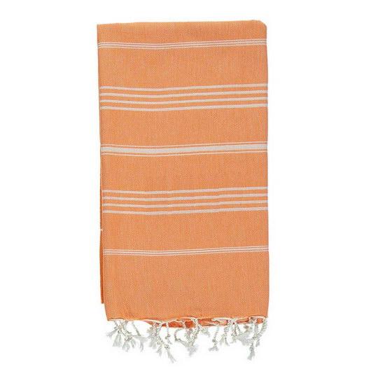 Extra Stor Hamam Handduk Sultan Orange Hamamhandduk Strand Badlakan