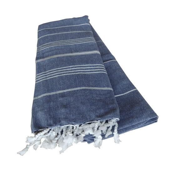 Extra Stor Hamam handduk De La Mer Marinblå