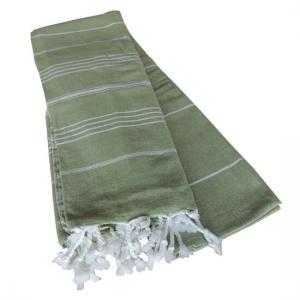 Extra Stor Hamam handduk De La Mer Olivgrön
