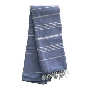Extra Stor Hamam handduk De La Mer Denim Blue