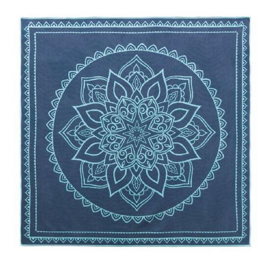 Big Xl Size Beach Towel Blanket 160x160 Cm Capri Indigo Turquoise