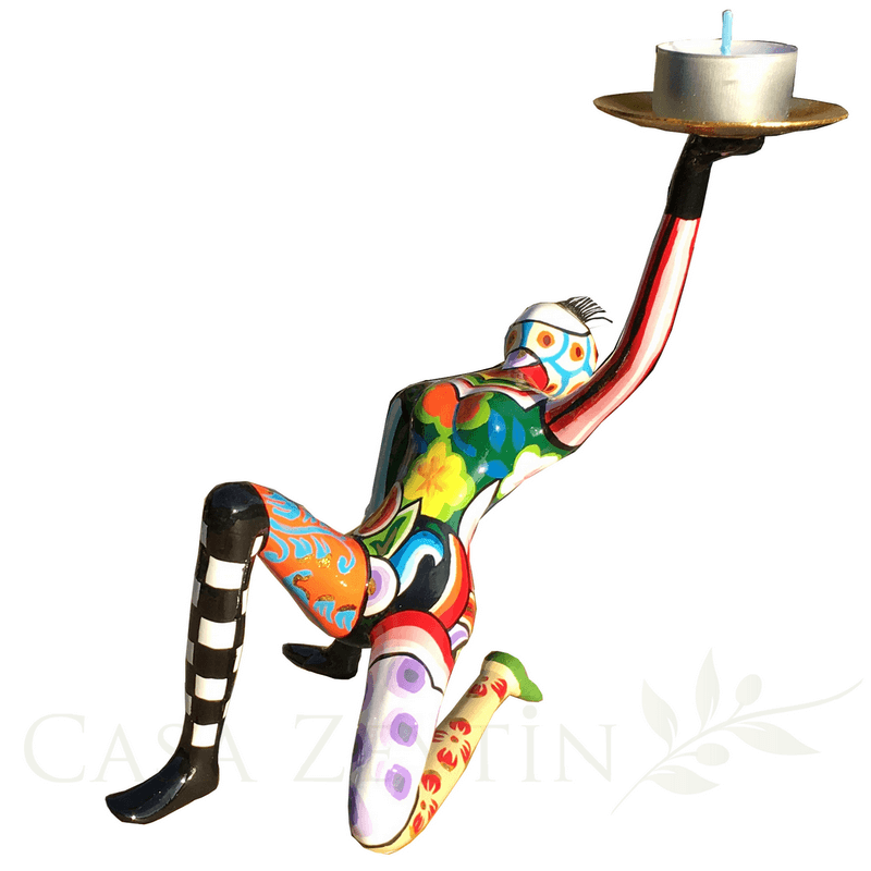 Toms Drag Akrobat Handmålad med plats för ett värmeljus