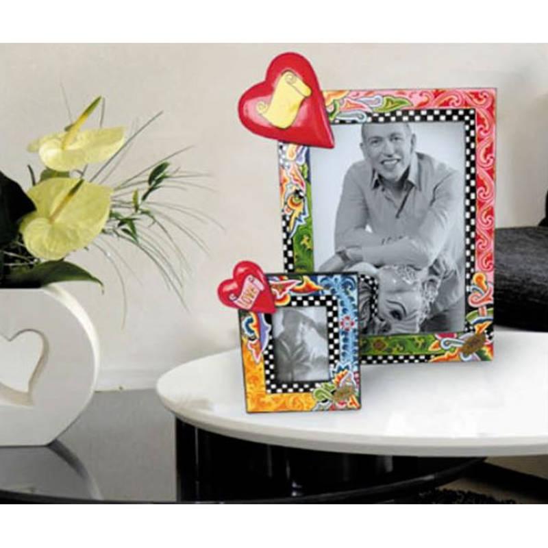 Toms Drag Picture Frame Heart Handmålad fotoram