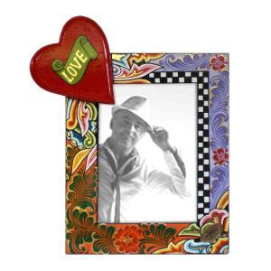 Toms Drag Picture Frame Heart L 4124 Handmålad fotoram