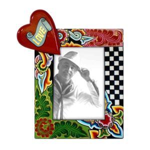 Toms Drag Picture Frame Heart M 4123 Handmålad fotoram