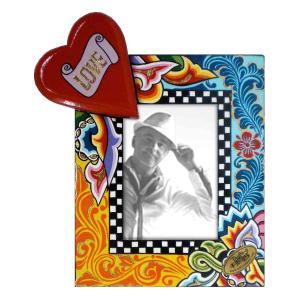 Toms Drag Picture Frame Heart S 4122 Handmålad fotoram