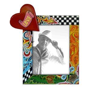 Toms Drag Picture Frame Heart XL 4125 Handmålad fotoram