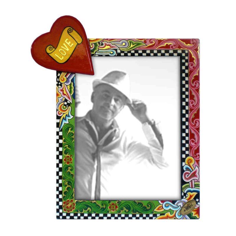 Toms Drag Picture Frame Heart XXL 4126 Handmålad fotoram