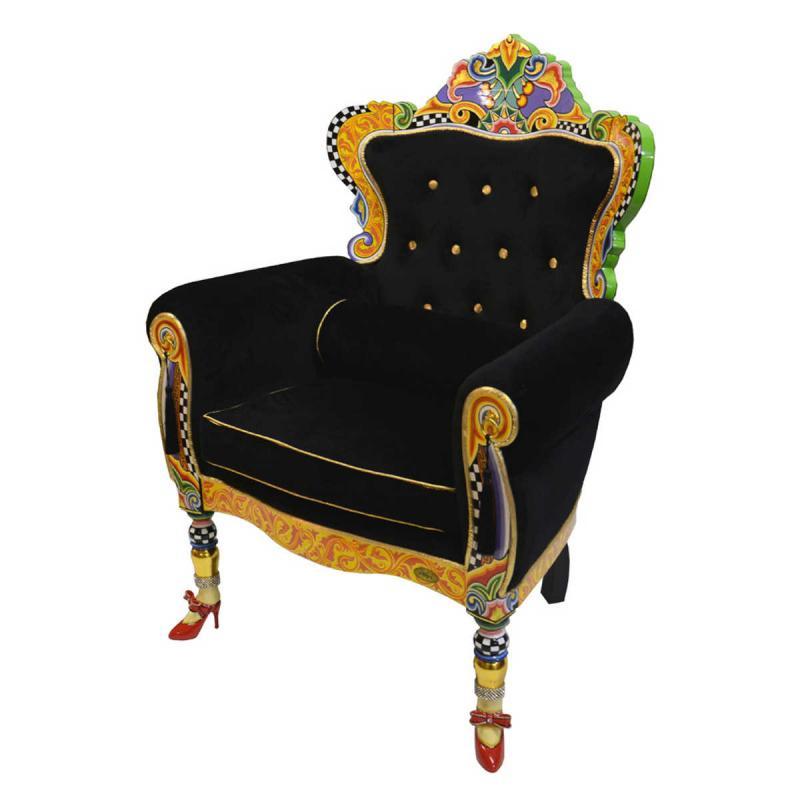 """Toms Drag Fåtölj """"Tron"""" Versailles Black 102140 Furniture Online Shop"""