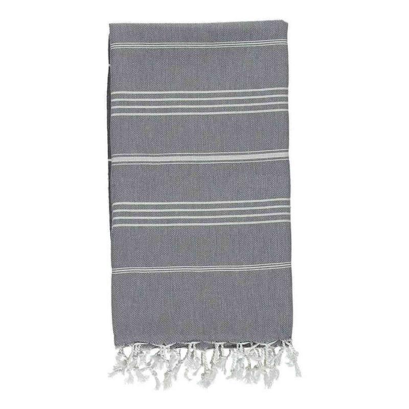 Turkish Hammam Towel De La Mer Charcoal Grey Peshtemal
