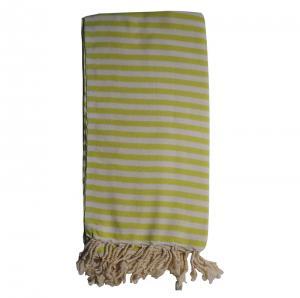 Hamam handduk Olive Green 100x180 cm 100% bomull modell 26