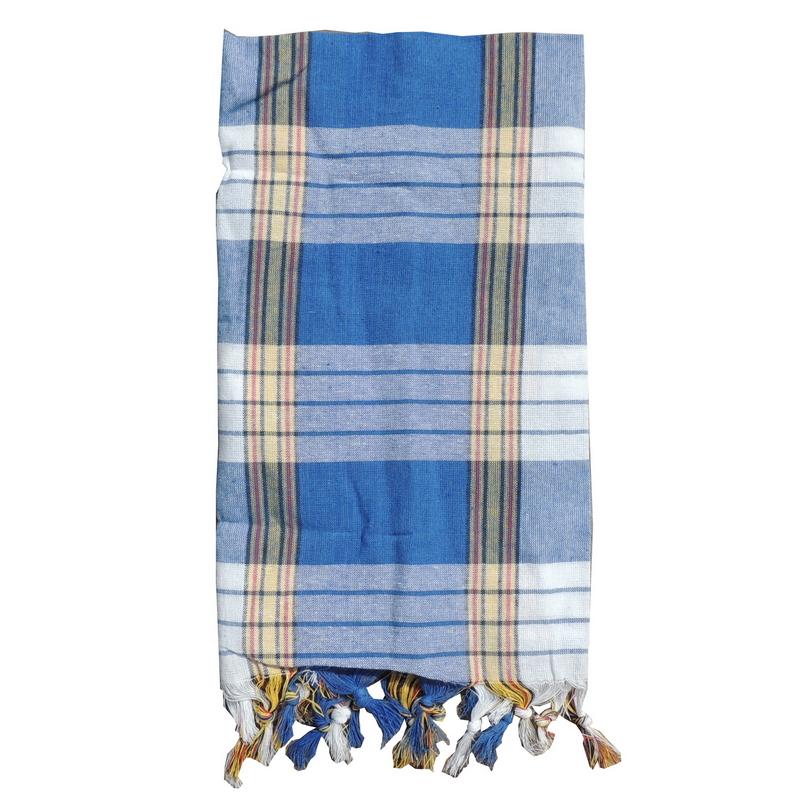 Turkish Hammam Towel - Peshtemal - Fouta Blue 95x170 cm 100% cotton model 35