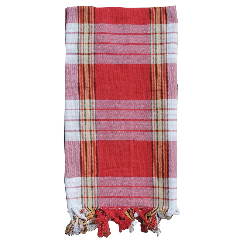 Turkish Hammam Towel - Peshtemal - Fouta Red 95x170 cm 100% cotton model 36