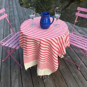 Peshtemal - Fouta - Turkish hammam towel 95x175 cm 100% cotton clour: Hot Pink OEKO-TEX certified