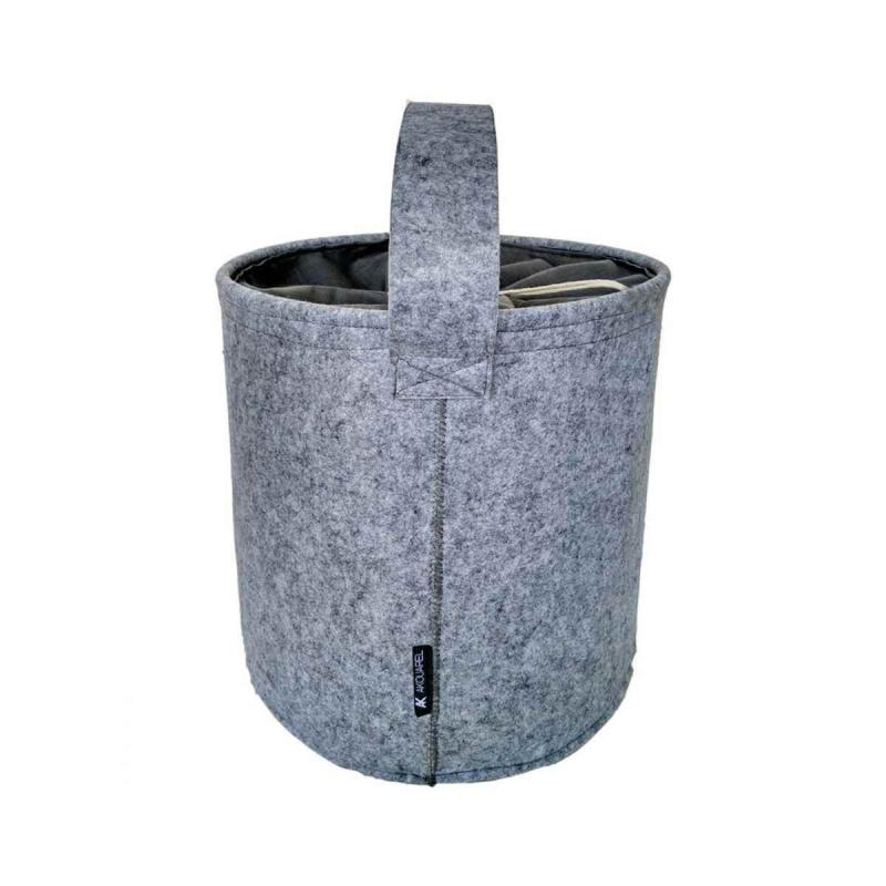 Tvättkorg SITELO gris perle