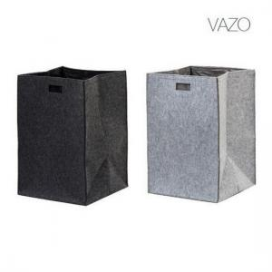 Tvättkorg VAZO 62x42x50 cm Antracit eller Pärlgrå från franska AKOUAREL