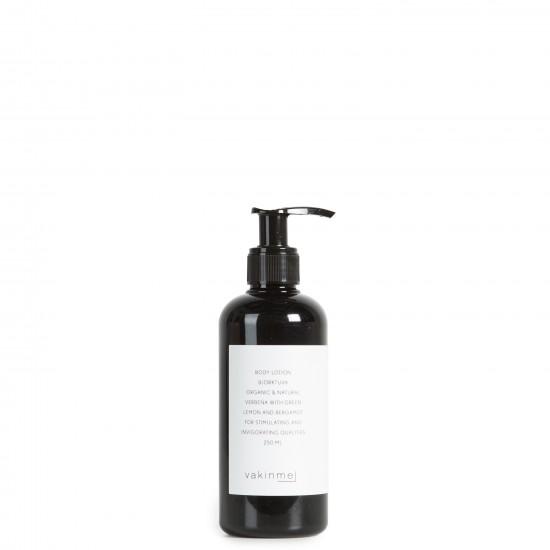 Bodylotion 250 ml Björktuva  med en frisk doft av grön citron och bergamott, är stimulerande och stärkande.