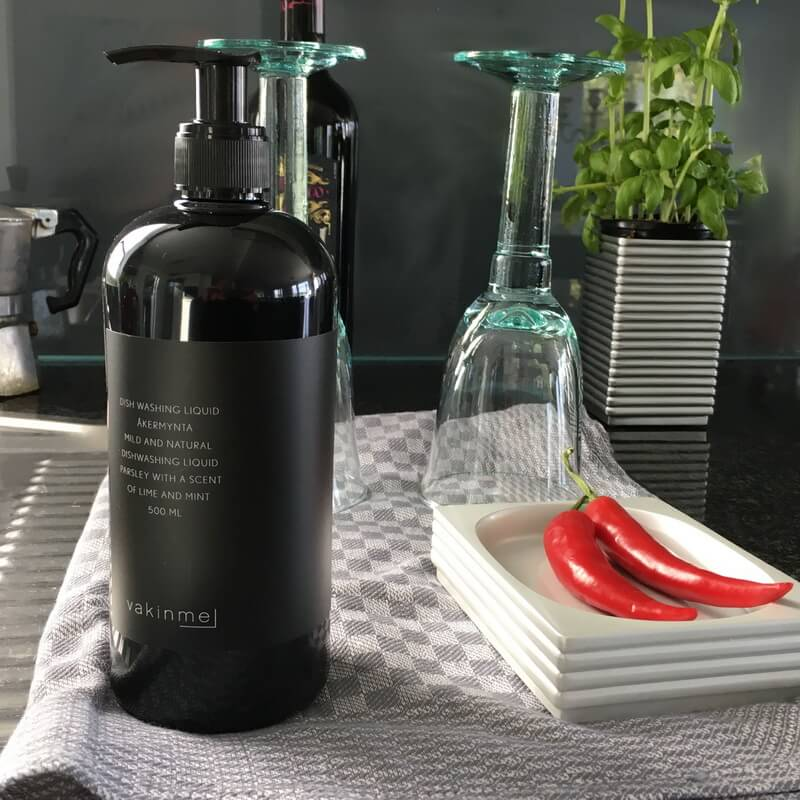 Washing up liquid made in Sweden from certified organic raw ingredients