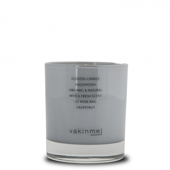 Scented Candle Daggmossa with a fresh scent of rose and grapefruit