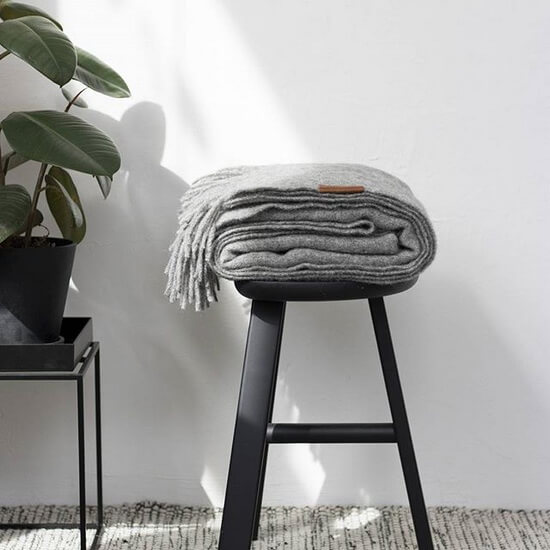 VILLAGE SARAS STOOL Black Nordic Design Staffan Holm - Furniture