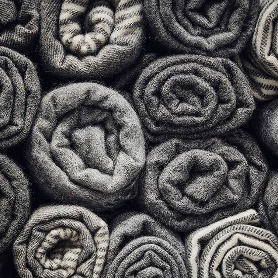 Wool is an environmentally friendly material. VILLAGE Blankets are produced of ecological wool from Swedish sheep using only the natural colours of the wool. Every year sheep grow new wool, making wool a renewable resource.