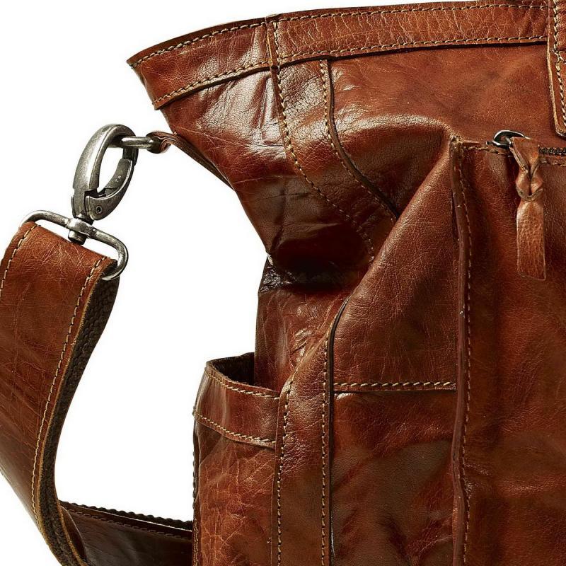 BAWAY leather Weekend bag Baway