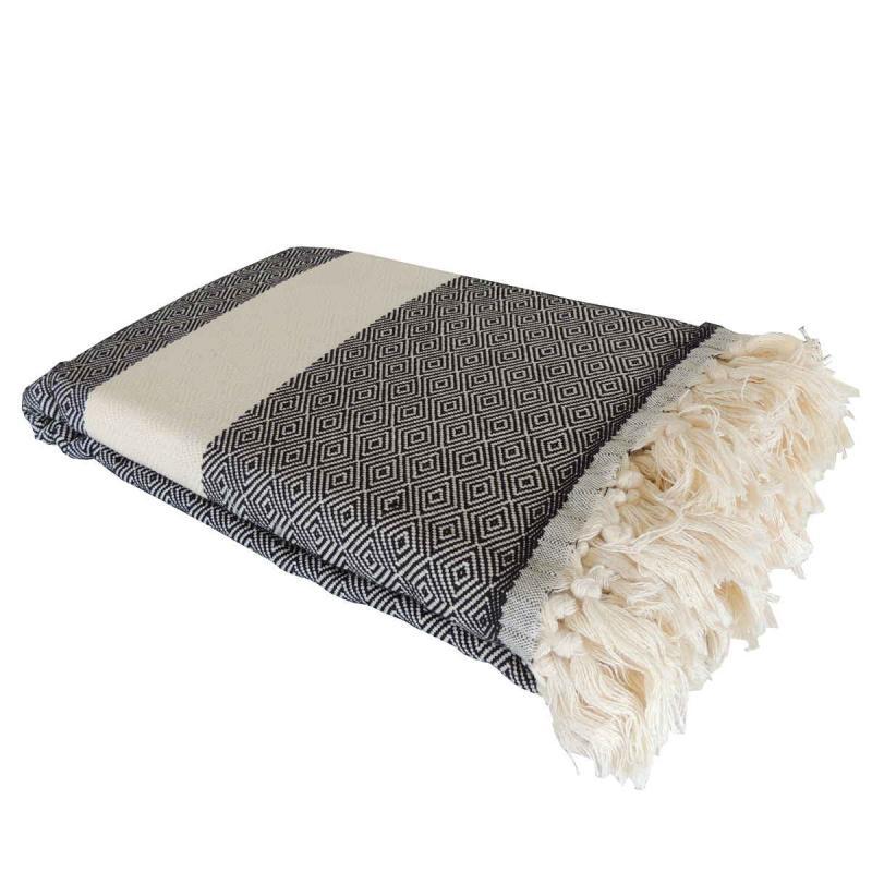XXL Blanket Diamond black and white
