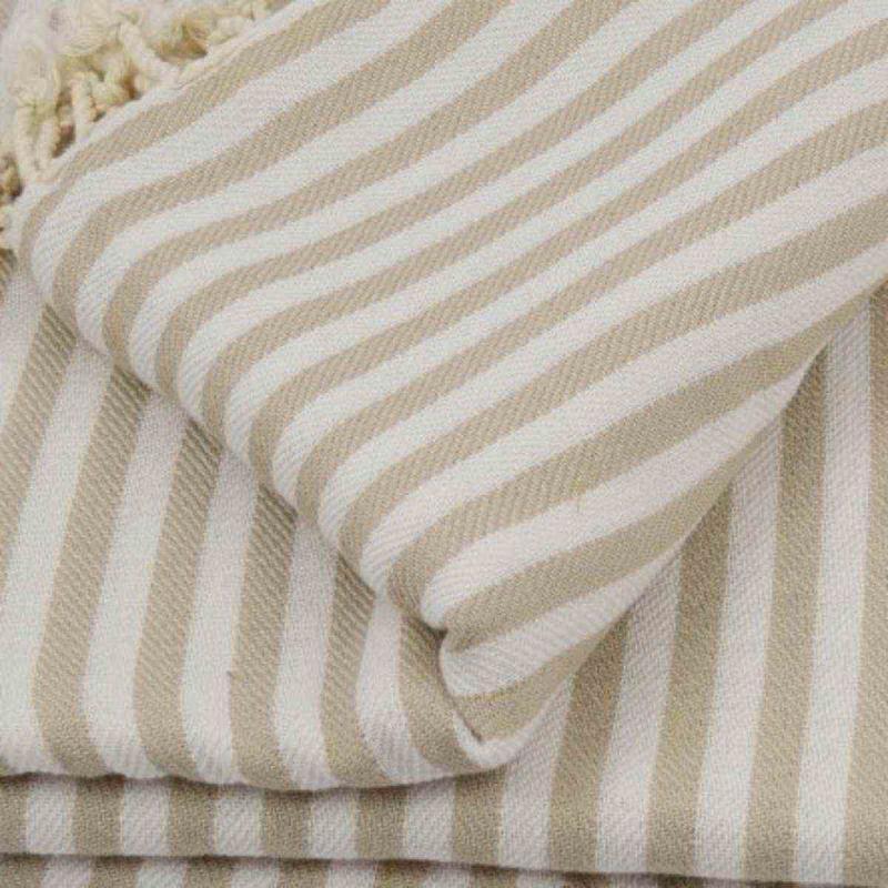 XXL beach towel blanket 220x260 beige