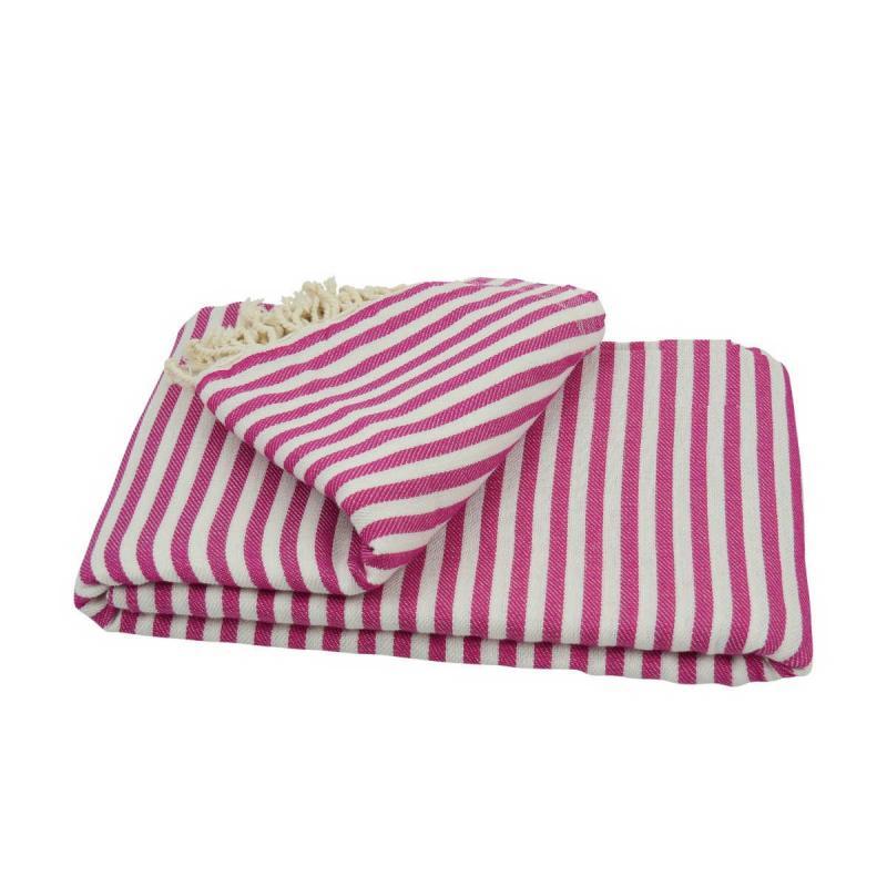 XXL beach towel blanket 220x260 cerise