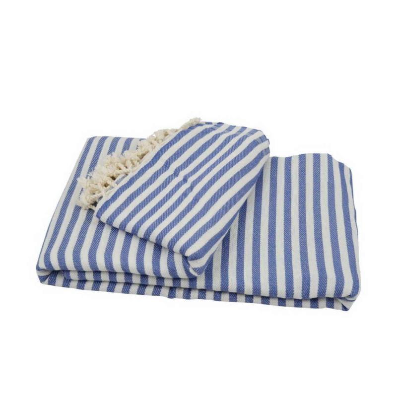 XXL beach towel blanket 220x260 denim blue