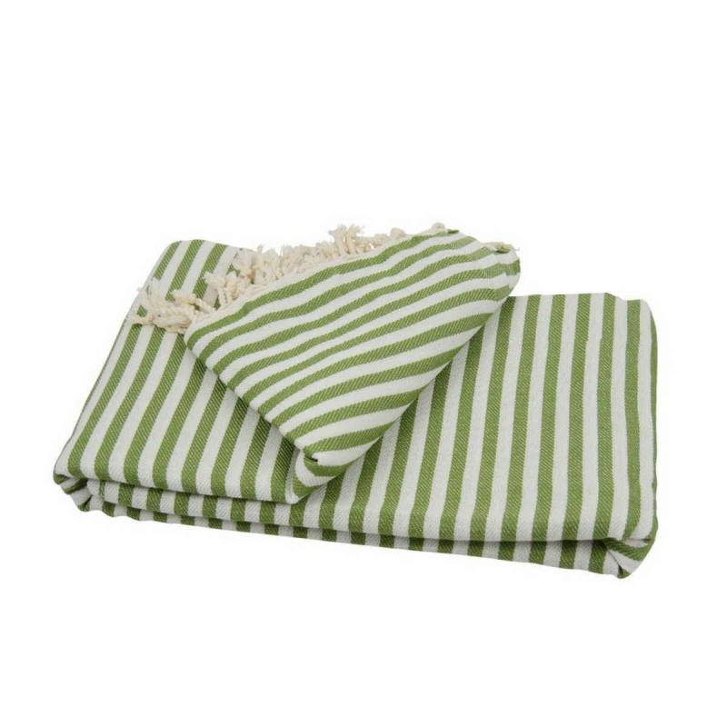 XXL beach towel blanket 220x260 olive green