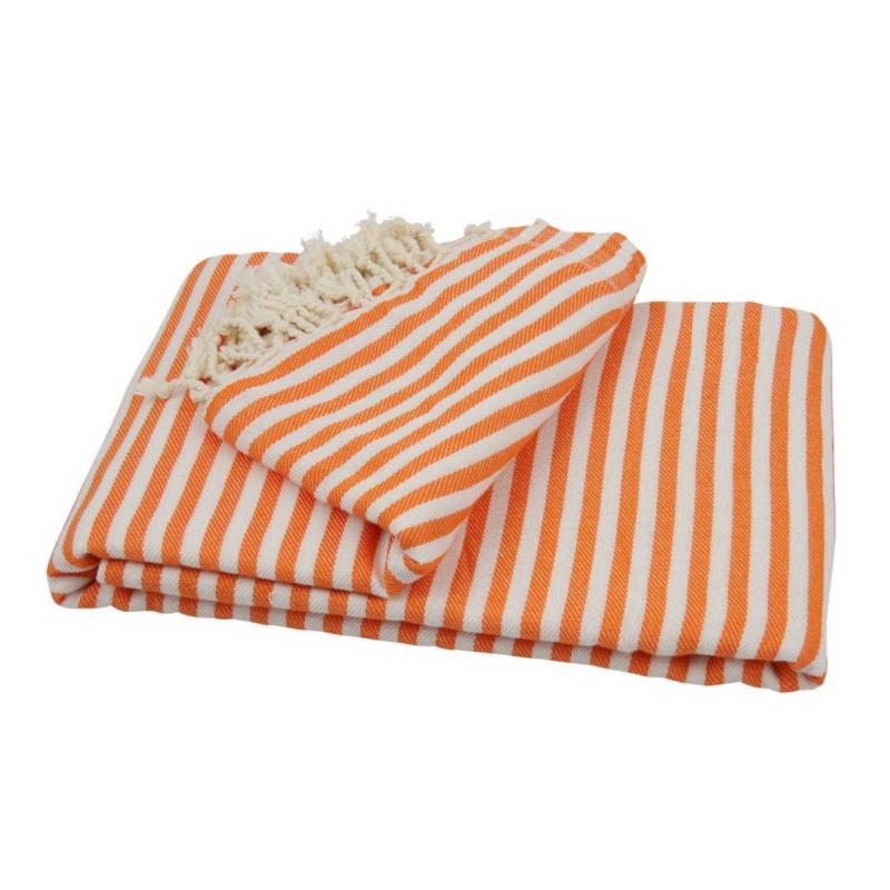 XXL beach towel blanket 220x260 orange