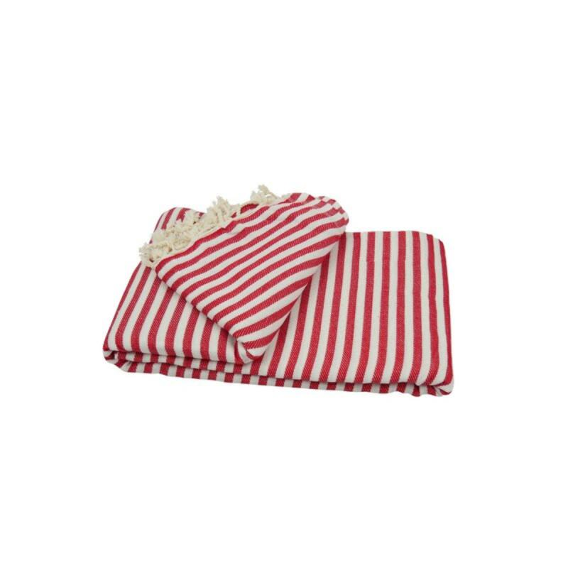 XXL beach towel blanket 220x260 red
