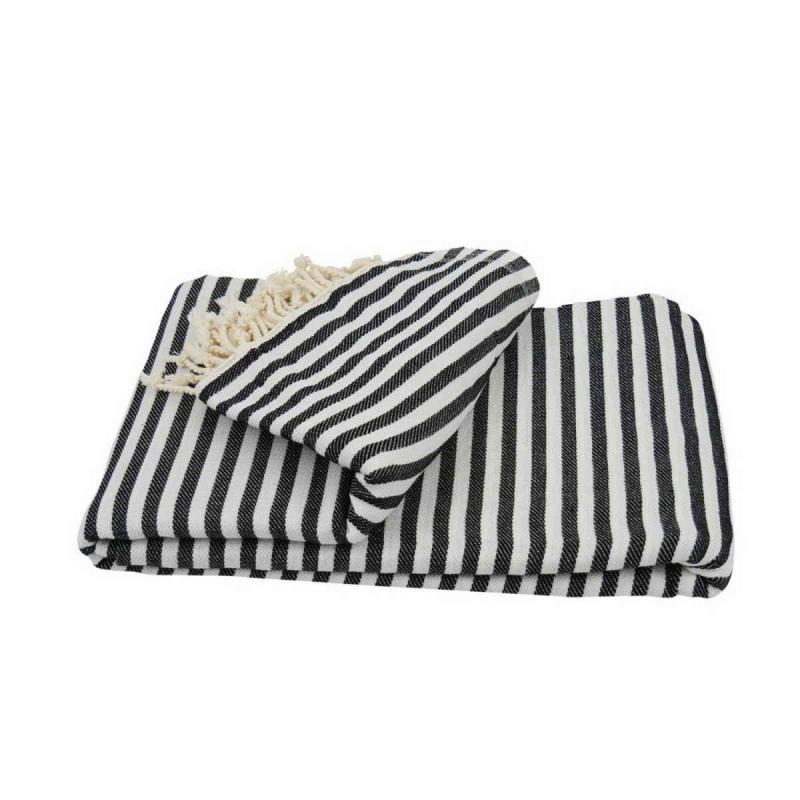 XXL beach towel blanket 220x260 black