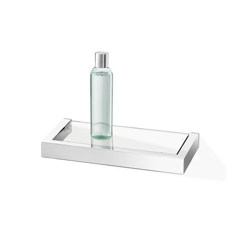 ZACK badrumshylla LINEA för vägg 26 blank av rostfritt stål