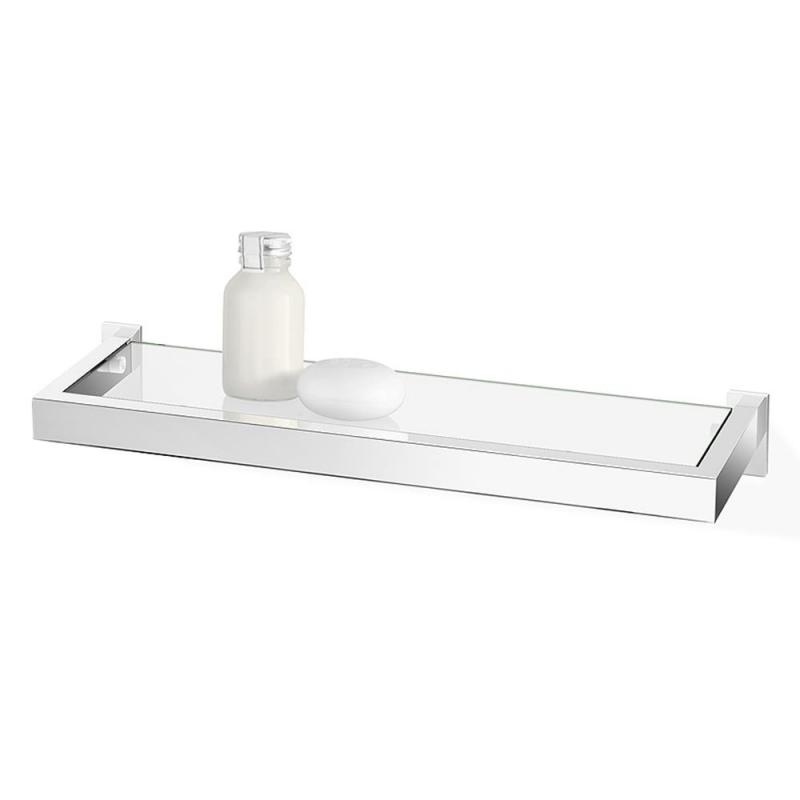 ZACK badrumshylla LINEA för vägg 46 blank av rostfritt stål