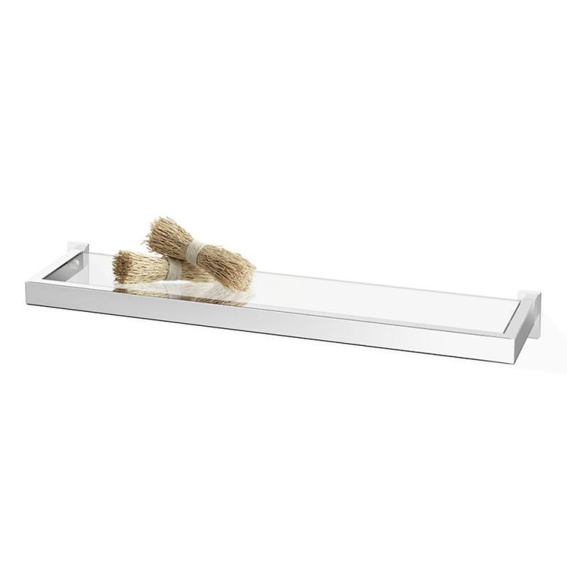 ZACK badrumshylla LINEA för vägg 61 blank av rostfritt stål