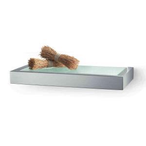 ZACK badrumshylla LINEA för vägg av borstat rostfritt stål