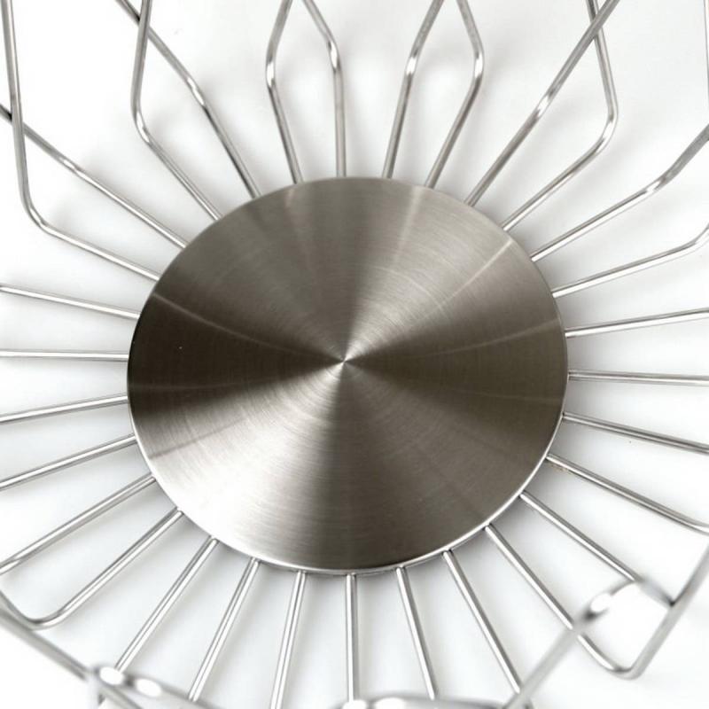 Zack BIVIO frukt / brödkorg i borstat rostfritt stål Ø22 h 10,5 cm