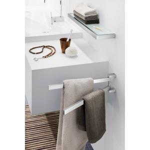 Zack Svängbar handdukshållare LINEA av borstat rostfritt stål