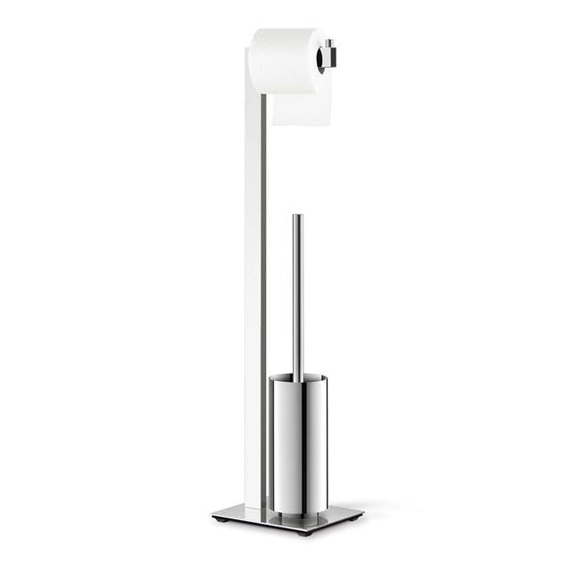 Zack toalettbuttler LINEA av rostfritt stål i blankt utförande