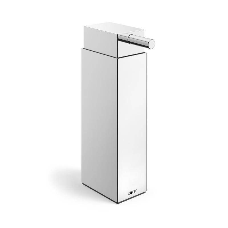 Zack soap and lotion dispenser LINEA of stainless steel polished finish.