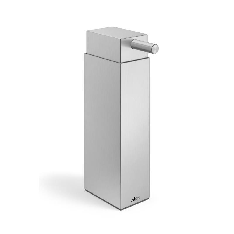 Zack soap and lotion dispenser LINEA of stainless steel brushed finish.