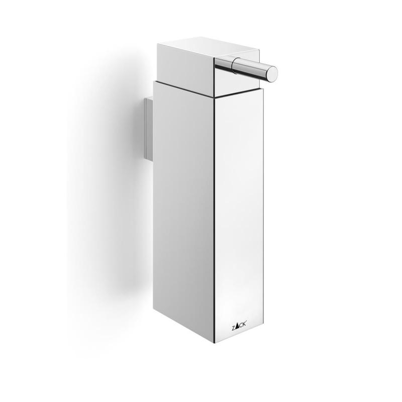 Zack wall mounted soap and lotion dispenser LINEA of stainless steel polished finish.
