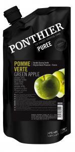 Fruktpuré av gröna äpplen