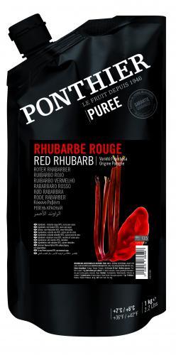 Röd rabarberpuré