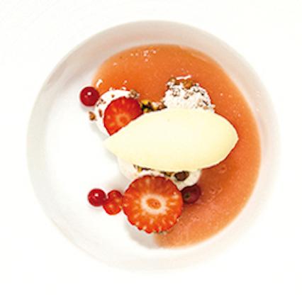 Soppa med vit persika & yuzu