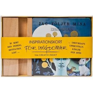 INSPIRATIONSKORT FÖR UNGDOMAR 39 kort med pepping, motivation, lust, (driv)kraft, uppmuntran, kärlek och stöd för ungdomar.
