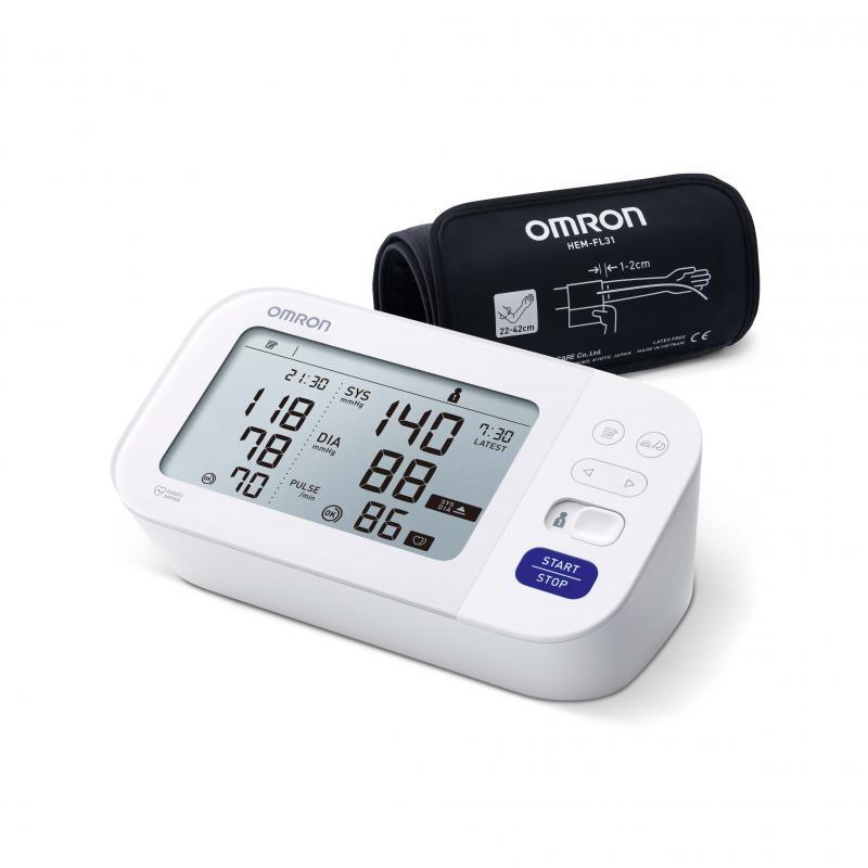 Nya OMRON M6 Comfort-2020, Blodtrycksmätare